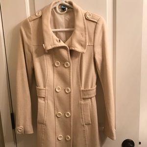 Cream pea coat